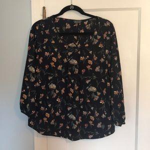 Navy Floral Stitch Fix Blouse